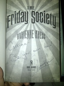 The Friday Society autograph